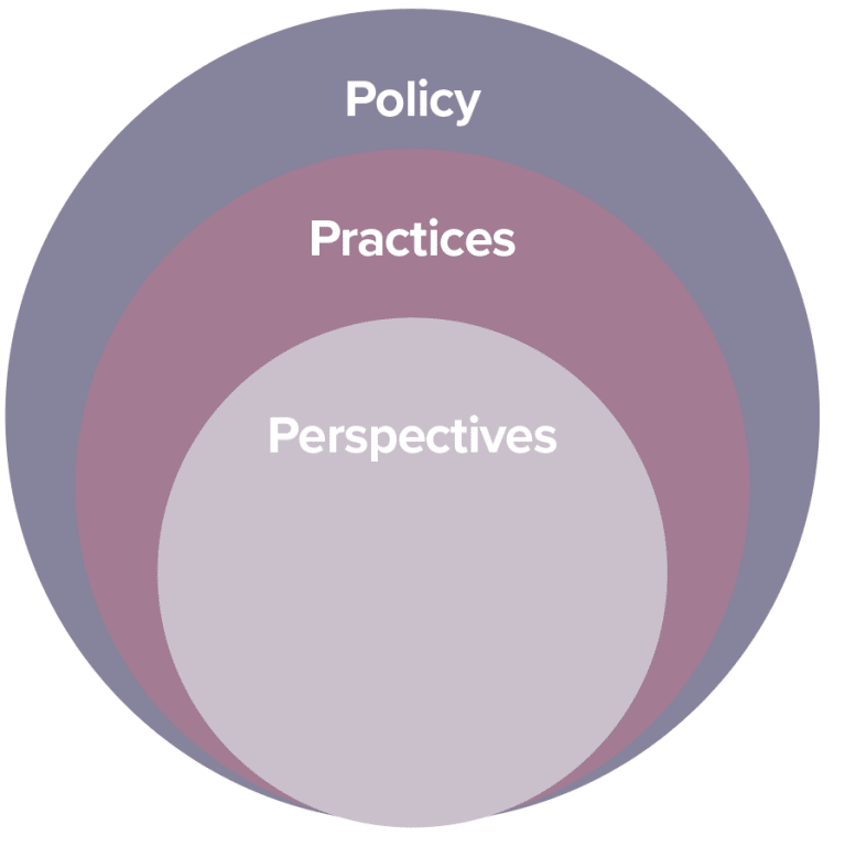 Policy, Practices and Perspectives
