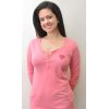 Pink 3/4 sleeve with Heart Shape I Love HR  - Women's