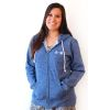 Blue Marbled Zip Junior Hoodie with SHRM Logo