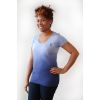 Blue Rounded Neck Dip Dye T-Shirt with SHRM Logo