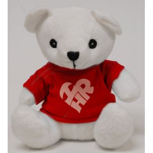 White Teddy Bear w/ I Love HR