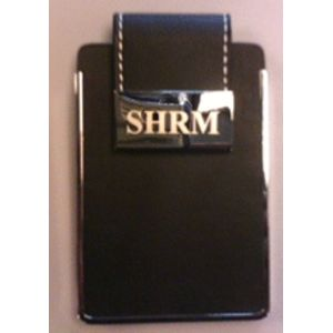 Leather & Chrome Business Card Case