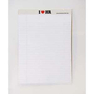 I Love HR - Legal Size Note Pad