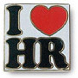 """I Love HR"" Lapel Pin"