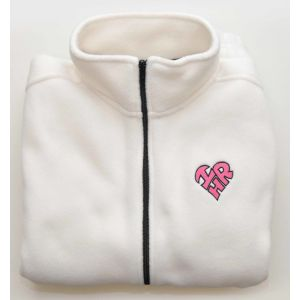 Women's Cream Heart Shape I Love HR Fleece