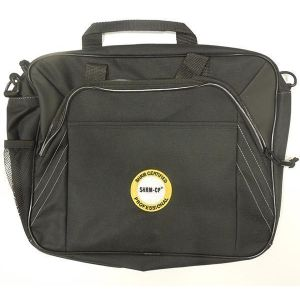 Saddle Briefcase with SHRM-CP New Logo