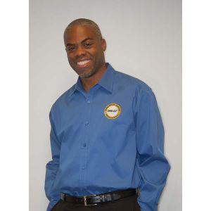 Men's Moonlight Blue Button Down Shirt with SHRM-SCP Logo