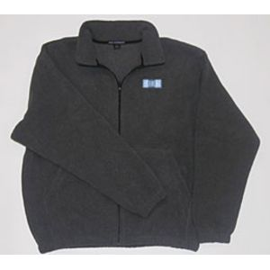 Men's Midnight Heather Pull-Zip Fleece w/ SHRM Logo