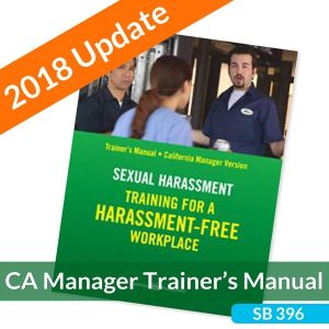 Sexual Harassment: Training for a Harassment-Free Workplace, Trainer's Guide -- California Manager