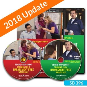 Sexual Harassment: Training for a Harassment-Free Workplace, Combo DVD — Employee/California Manager Package