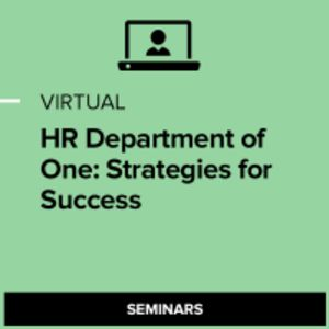 Virtual HR Department of One: Strategies for Success