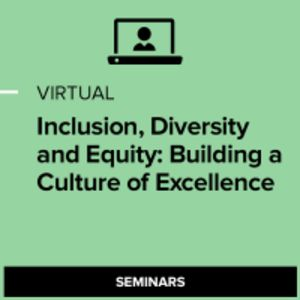 Virtual Inclusion, Diversity and Equity: Building a Culture of Excellence