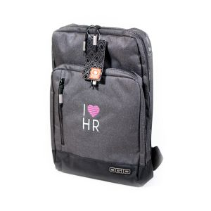 I Love HR Ogio Backpack in Heather Grey