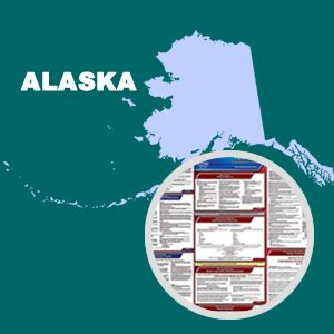 Alaska and Federal Labor Law Posters with 1-Year Update Service -- English Version