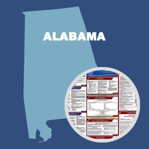 Alabama & Federal Labor Law Poster Set with 1 Year Update Service -- English Version