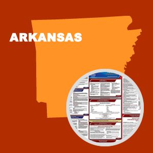 Arkansas and Federal Labor Law Poster Set with 1-Year Update Service -- English Version
