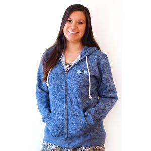Blue Marbled Zip Junior Hoodie with SHRM Logo