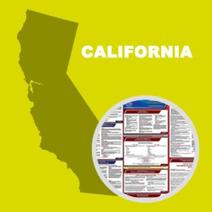 California and Federal Labor Law Poster Set with 1-Year Update Service -- English Version