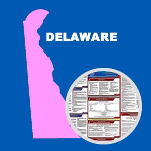 Delaware and Federal Labor Law Poster Set with 1-Year Update Service -- English Version