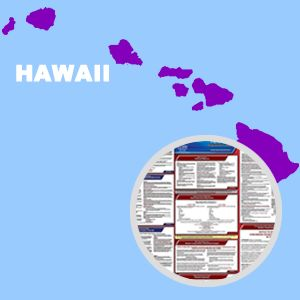 Hawaii and Federal Labor Law Poster Set with 1-Year Update Service -- English Version