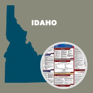 Idaho and Federal Labor Law Poster Set with 1-Year Update Service -- English Version