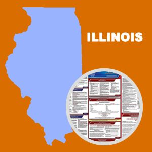 Illinois and Federal Labor Law Poster Set with 1-Year Update Service -- Spanish Version