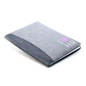 I Love HR Padfolio and Pen Set in Grey