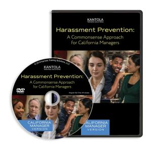 Harassment Prevention: A Commonsense Approach DVD (California manager version)