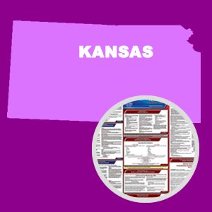 Kansas and Federal Labor Law Poster Set with 1-Year Update Service -- English Version
