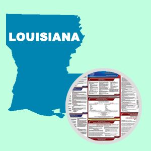 Louisiana and Federal Labor Law Poster Set with 1-Year Update Service -- English Version