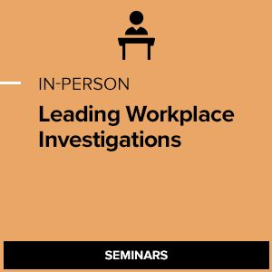Leading Workplace Investigations