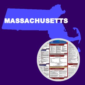 Massachusetts and Federal Labor Law Poster Set with 1-Year Update Service -- English Version