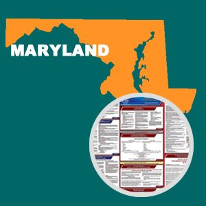 Maryland and Federal Labor Law Poster Set with 1-Year Update Service -- English Version