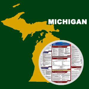 Michigan and Federal Labor Law Poster Set with 1-Year Update Service -- English Version