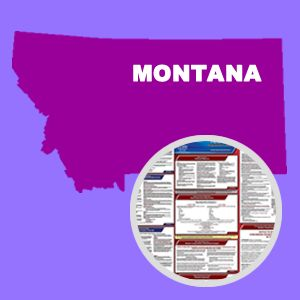 Montana and Federal Labor Law Poster Set with 1-Year Update Service -- English Version