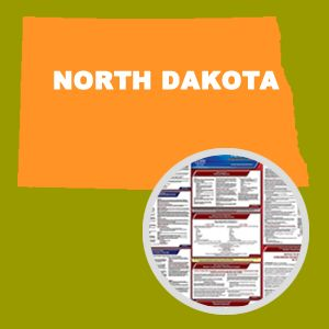North Dakota and Federal Labor Law Poster Set with 1-Year Update Service -- Spanish Version
