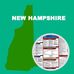 New Hampshire and Federal Labor Law Poster Set with 1-Year Update Service -- English Version