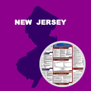 New Jersey and Federal Labor Law Poster Set with 1-Year Update Service -- English Version