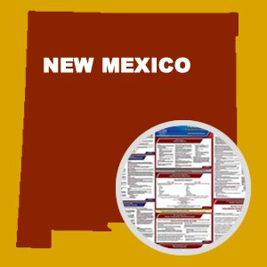 New Mexico and Federal Labor Law Poster Set with 1-Year Update Service -- English Version