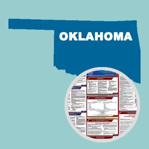 Oklahoma and Federal Labor Law Poster Set with 1-Year Update Service -- English Version