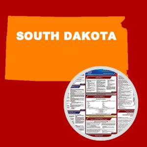 South Dakota and Federal Labor Law Poster Set with 1-Year Update Service -- English Version