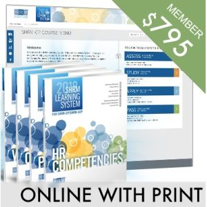 SHRM Learning System for SHRM-CP/SHRM-SCP -- Online With Print