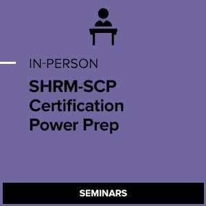 SHRM-SCP Certification Power Preparation