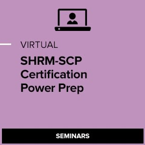 Virtual SHRM-SCP Certification Power Preparation