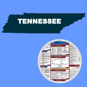 Tennessee and Federal Labor Law Poster Set with 1-Year Update Service -- Spanish Version