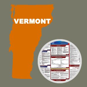 Vermont and Federal Labor Law Poster Set with 1-Year Update Service -- English Version