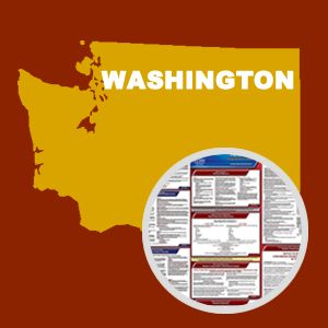 Washington and Federal Labor Law Poster Set with 1-Year Update Service -- English Version
