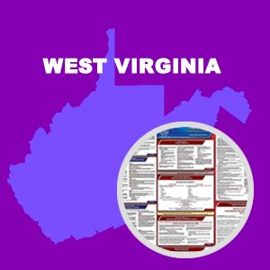 West Virginia and Federal Labor Law Poster Set with 1-Year Update Service -- English Version
