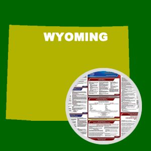 Wyoming and Federal Labor Law Poster Set with 1-Year Update Service -- English Version