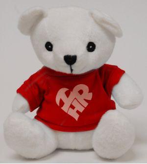 White Teddy Bear w/ I Love HR